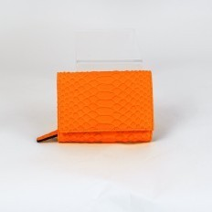 Compact wallet ACC/8 in orange fluo python