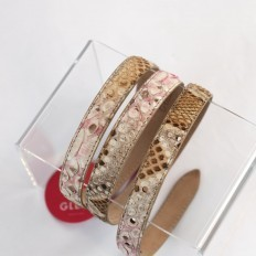 woman belt in genuine python by Gleni
