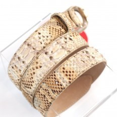 Precious jewel-buckle for genuine python belt