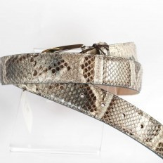 Belt C3500 in light grey python details