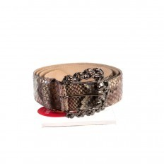 "Genuine python belt in ""Cherry"" colour"