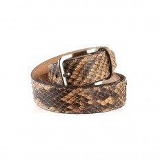 Belt in genuine front cut Reticulatus python