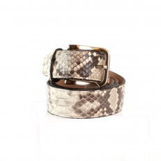 Belt in matte roccia reticulated python