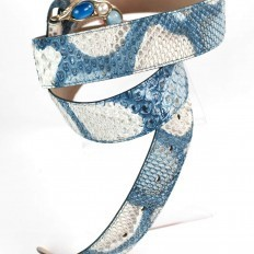 Belt for women in Design Blue python - Details