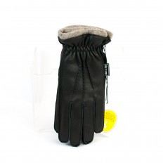 Deerskin gloves lined with cashmere