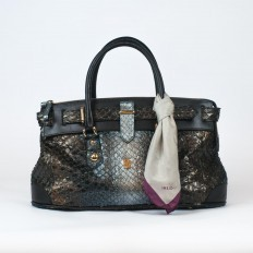 queen baltic trunk bag in anaconda