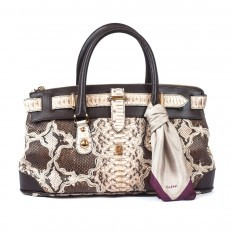 Queen bauletto bag in genuine python