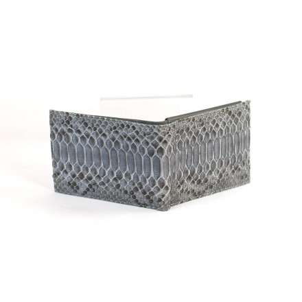 Wallet 2150 in Grey Satin python leather