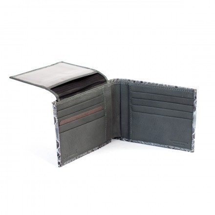 Wallet 2150 in Grey Satin python - Internal compartment