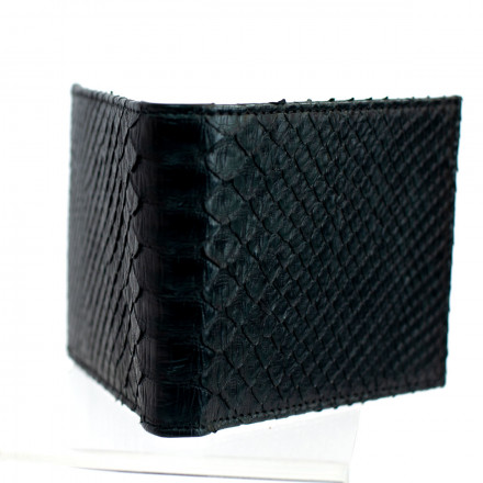 Compact men's wallet in genuine python