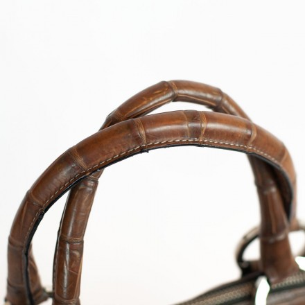 handles in genuine crocodile leather