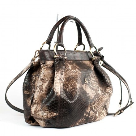 Soft bag in back cut python Made in Italy