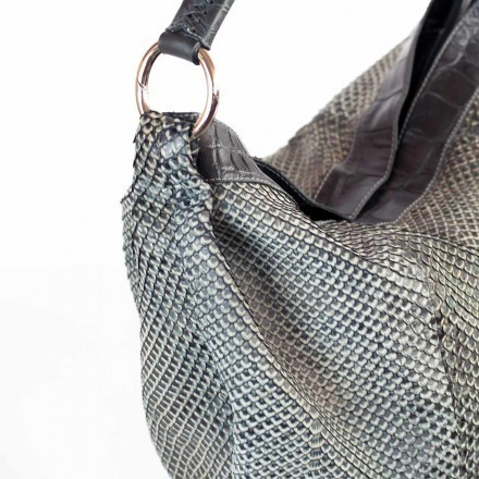 Gleni shopper black grey anaconda