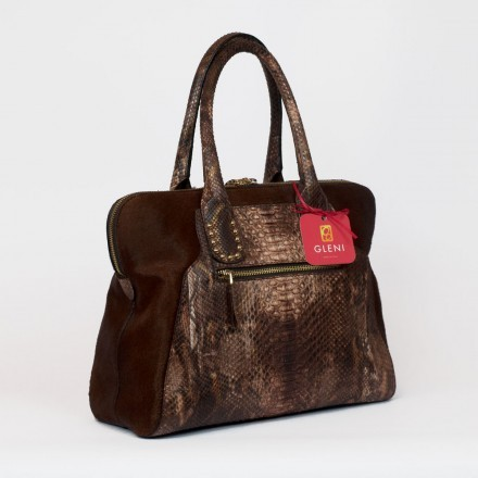 genuine python shoulder bag by Gleni