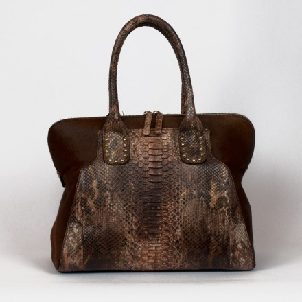 shoulder bag in genuine python made in Italy