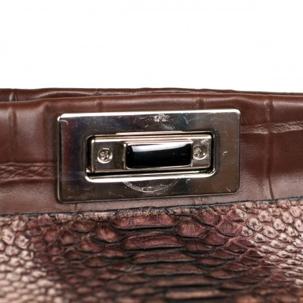 Lock of the genuine python handbag 5044