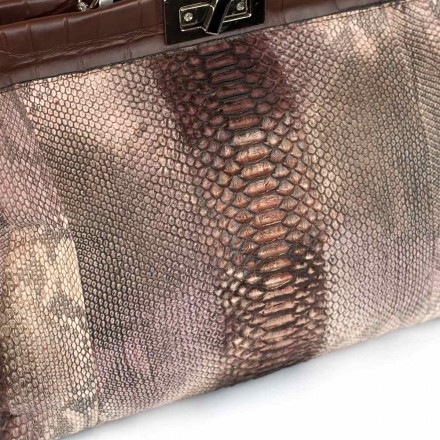 Real leather python handbag GLENI