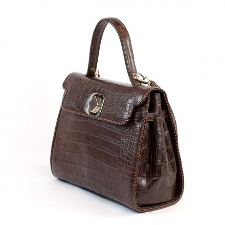 Handbag 8004 in alligator leather by GLENI