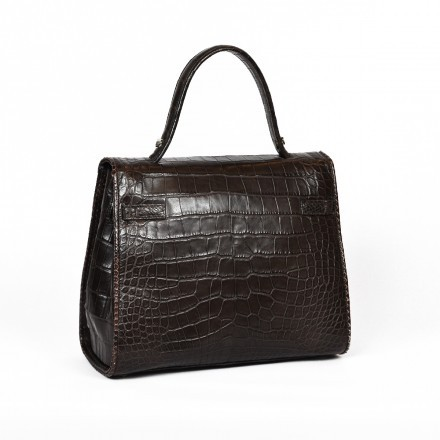Made in Italy precious alligator bag by GLENI