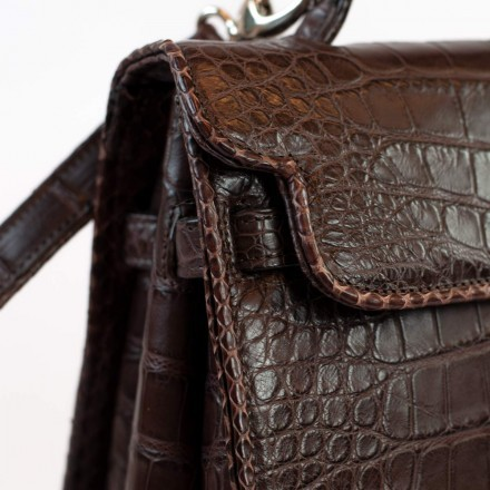 Luxury alligator leather bag made in Italy