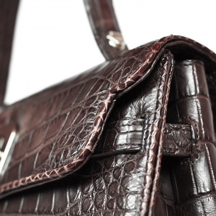 Gleni handbag in alligator leather