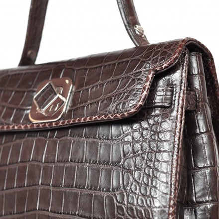 Luxury alligator handbag by GLENI