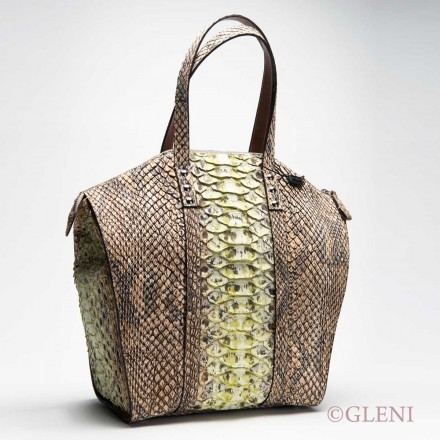 Python tote bag handcrafted by GLENI