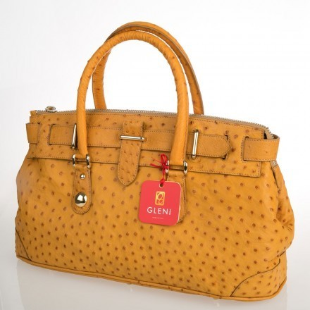 handbag in ostrich leather