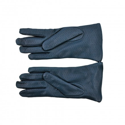 Woman nappa leather and cashmere gloves with decorative bow