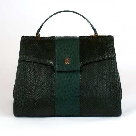 Dama in green anaconda leather