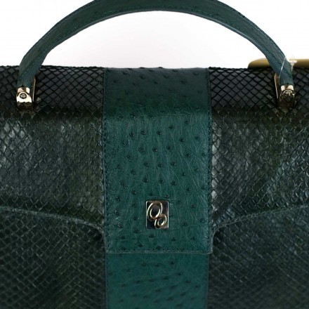 Gleni handbag Dama in genuine anaconda