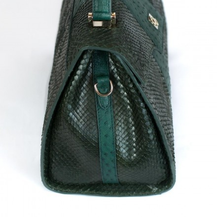 Dark green olive handbag GLENI