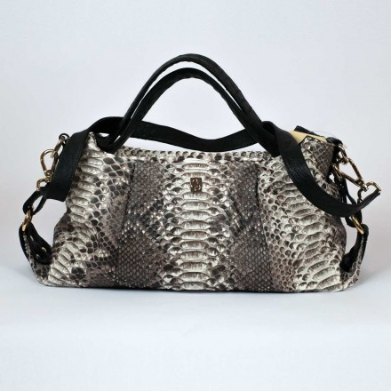 Python and ostrich handbag