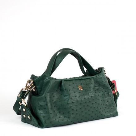 Made in Italy Irina bag in genuine ostrich leather