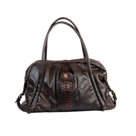 Tatiana handbag in back cut Brunello python