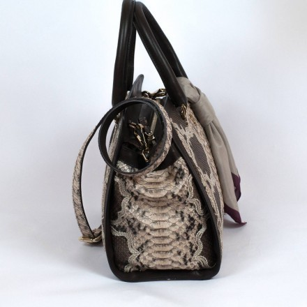 Zakita tote bag in genuine python