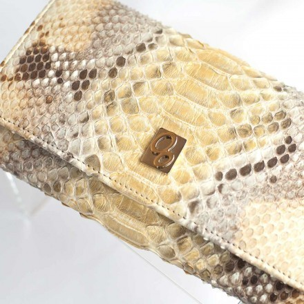 Gold python leather ACC/1 wallet