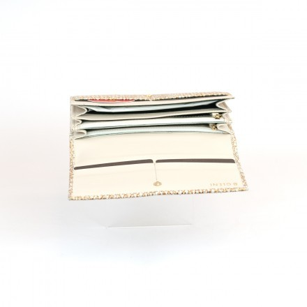 Internal section wallet ACC/1 in gold python leather