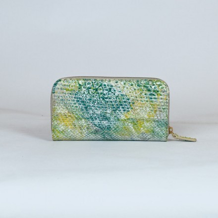 genuine python wallet green and yellow