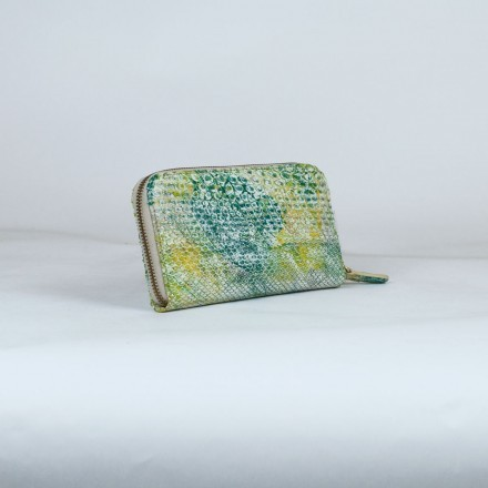 wallet for woman in genuine python leather made in Italy
