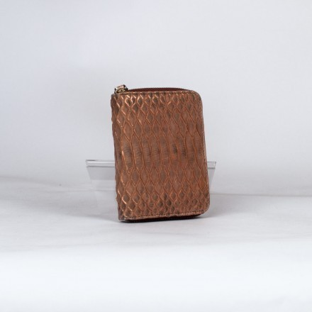 genuine python wallet in copper color