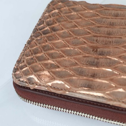 wallet in genuine python leather made in Italy