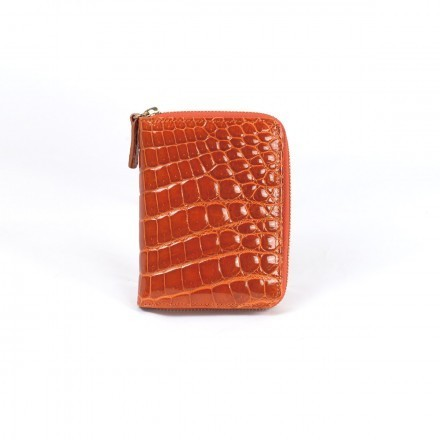 Acc/6 wallet in crocodile leather