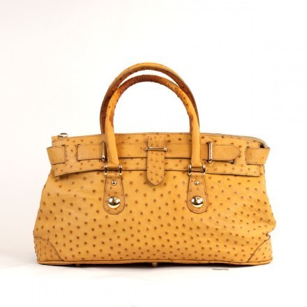 Buttercup 4818 handbag in genuine ostrich leather from GLENI