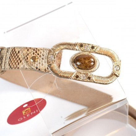woman belt in genuine python leather made in Italy