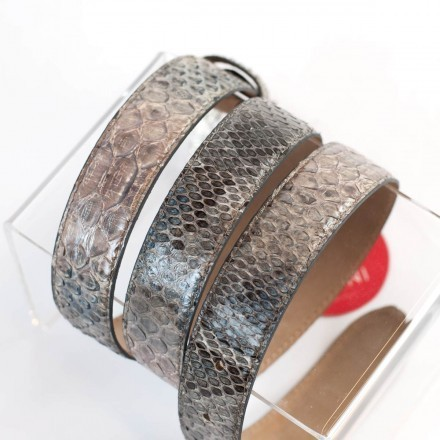 genuine python belt for woman