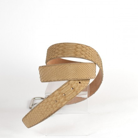 Belt C4000 in Kiwi python leather