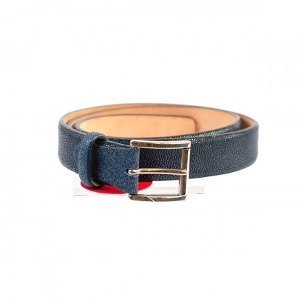 Belt in blue ray leather