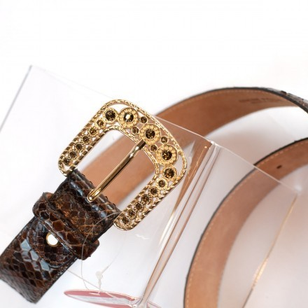Jewel gold buckle by GLENI