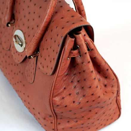 Ostrich bag in genuine ostrich leather by GLENI